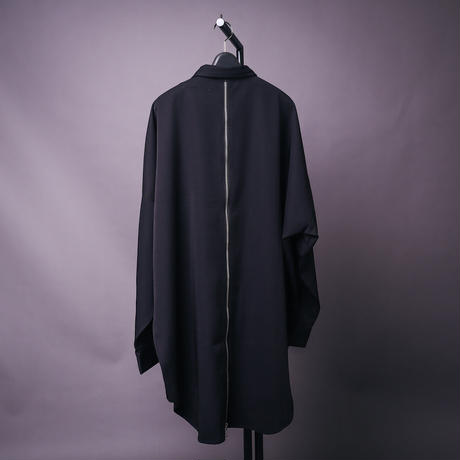【AFYF】BACK ZIP STRIPE SHIRT[BLACK]