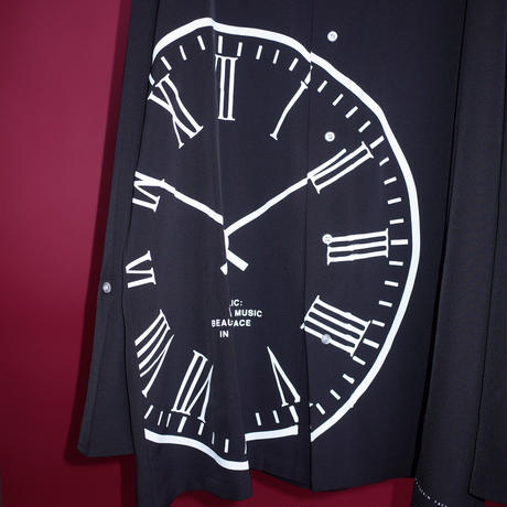 【AFYF】POLY CLOCK SHIRT[CLOCK-BLACK]