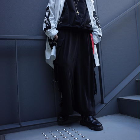 【AFYF】BASIC FOR OVSIZE STD SAROUEL UTILITY CARGO[MILAN-BLACK]