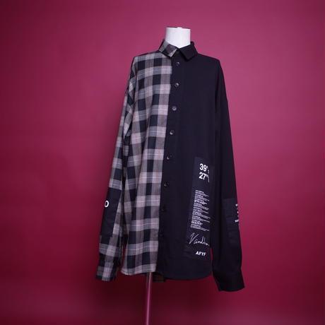 【AFYF】BILINGUAL LONG SHIRT[BLACK/ORANGE]