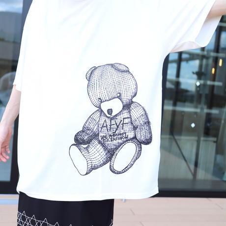 【AFYF】 MESH OVERSIZED T SHIRT [DARK BEAR MESH-WHITE]