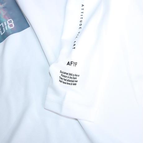 【AFYF】  MESH PRINT LS TEE [WH-CLOUD]