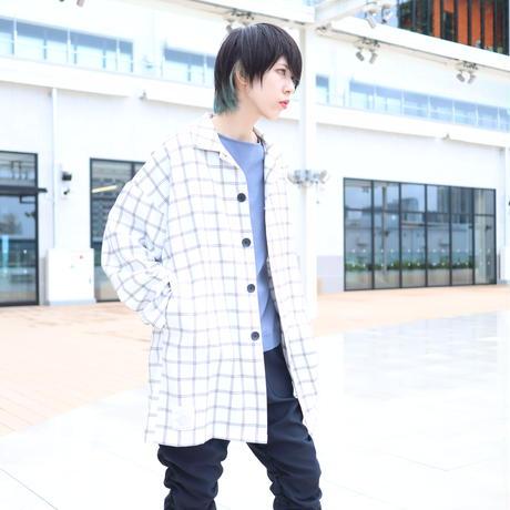 【CLASSIC ROV】 TROPICAL (清涼スーツ素材) SHIRT COAT [WHITE WINDOWPANE CHECK]
