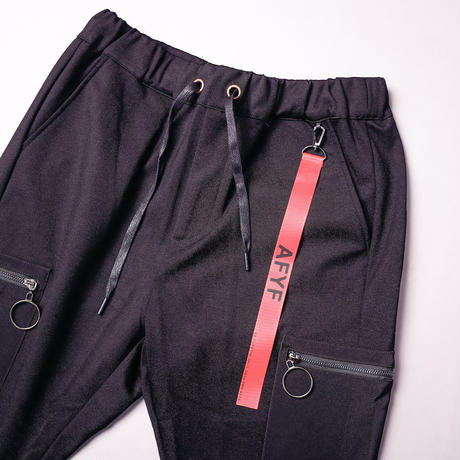 【AFYF】BASIC FOR OVSIZE SKINNY RIB PANT[起毛 BLACK]