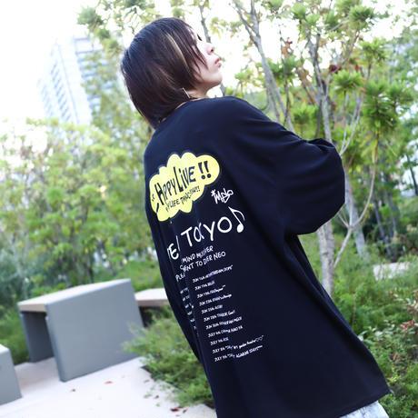 【AFYF ON GILDAN社】 SOUVENIR LS T SHIRT1 [BK-HAPPY L]