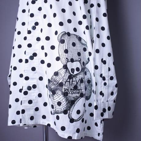 ダークベアーバザール 限定生産アイテム【rovtski】 SPECIAL COTTON SHIRT JKT【DARK BEAR-WHITE/BLACK】