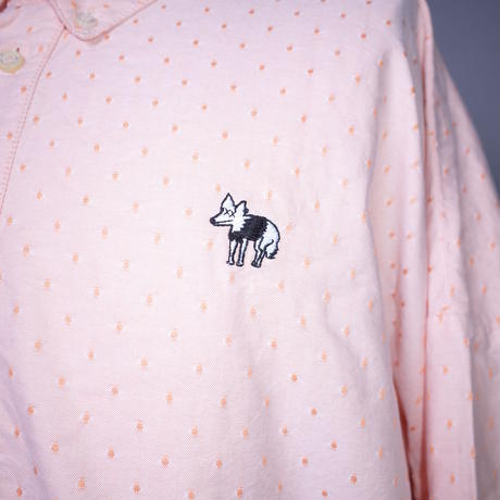 ダークベアーバザール 限定生産アイテム【AFYF】 SPECIAL COTTON BIG SHIRT 【DARK BEAR&ANIMAL-ORANGE DOT】