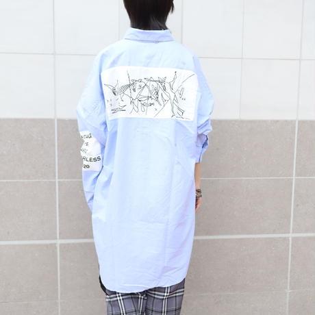【AFYF】LONG BIG SHIRT [GERNICA-SAX]