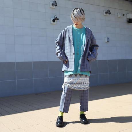 【CLASSIC ROV】 TROPICAL (清涼スーツ素材) CROPPED PANT [杢BLACK CHECK]