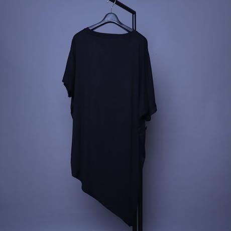 【AFYF】  PREMIUM COOL TECH (冷感接触素材) TRIANGLE PRINT T [TSUMU-BLK]
