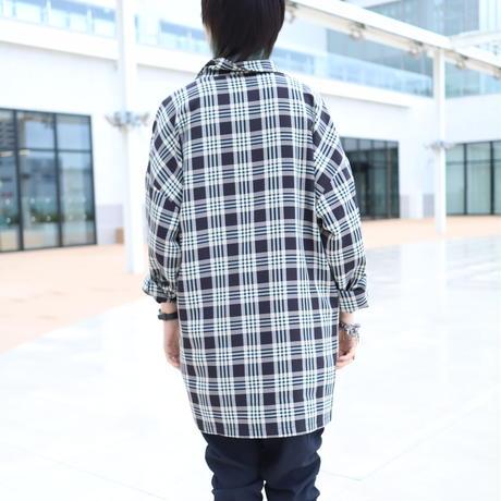 【CLASSIC ROV】 TROPICAL (清涼スーツ素材) SHIRT COAT [BLACK CHECK]