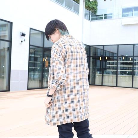 【CLASSIC ROV】 TROPICAL (清涼スーツ素材) SHIRT COAT [BEIGE CHECK]