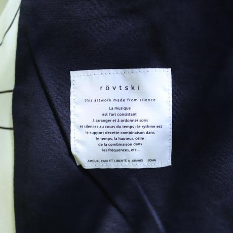 【CLASSIC ROV】 リネンコットン 麻の質感が心地よい裾アシメVネックLST [NAVY]
