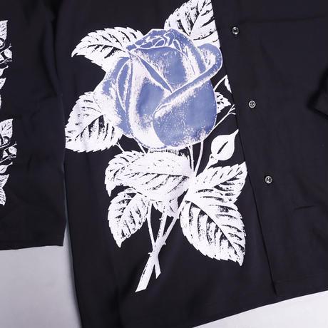 【AFYF】  ICON BIG SHIRT[BLK-BLUE ROSE]