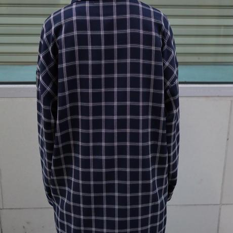 【CLASSIC ROV】 TROPICAL (清涼スーツ素材) SHIRT COAT [NAVY WINDOWPANE  CHECK]