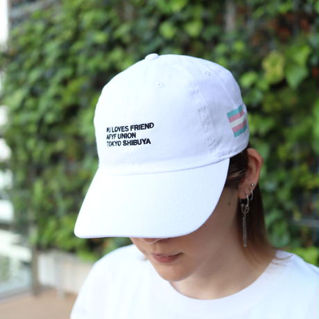 【AFYF ON NEWHATTAN社】 🌈# U LOVES FRIEND  CAP [SAX/PINK-WHITE] / XG20022901