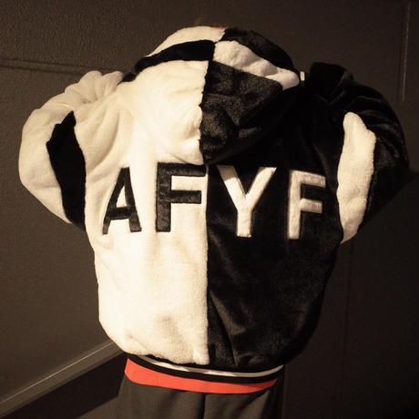 【AFYF】FUR BLOUSON[BLACK/WHITE]