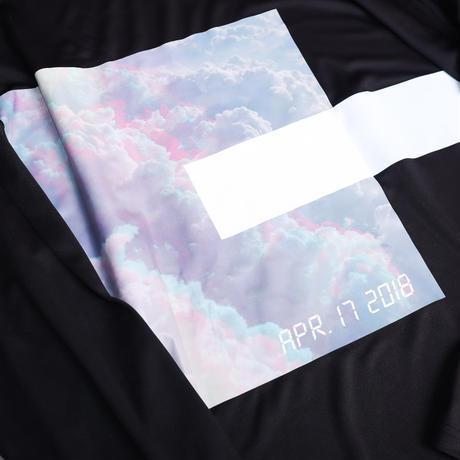【AFYF】  MESH PRINT LS TEE [BK-CLOUD]