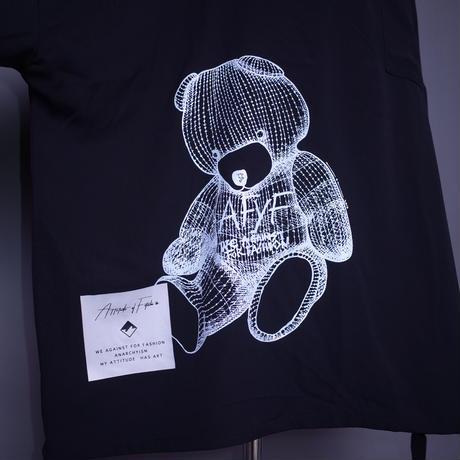 ダークベアーバザール 限定生産アイテム【AFYF】 SPECIAL POLY 1/2ZIP SHIRT【DARK BEAR-BLACK】