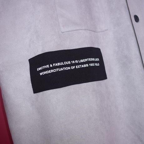 【AFYF】SWEADE PATCH BASSATTO SHIRT[LIGHT GREY]/8C20092001