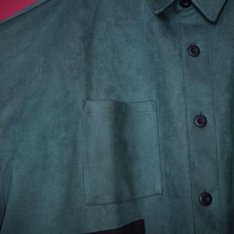 【AFYF】SWEADE PATCH  BASSATTO SHIRT[DARK GREEN]/8C20092001