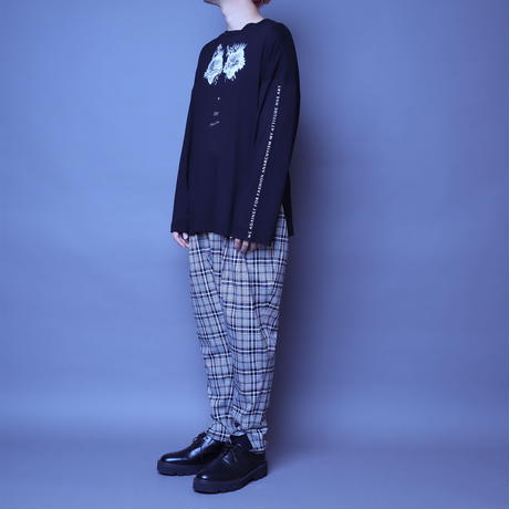 【AFYF】BASIC OVERSIZED GRAPHIC LST [HEART-Ⅲ-BLACK]