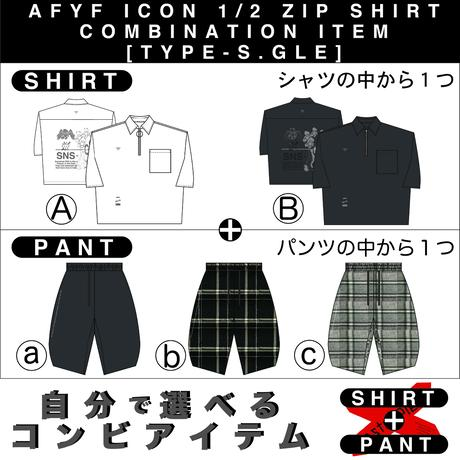 【AFYF】 ICON 1/2 ZIP SHIRT COMBINATION ITEM [TYPE-S.GLE]