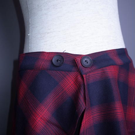 【AFYF】BASIC FETI MAKIMAKI SKIRT[RED CHECK FET]