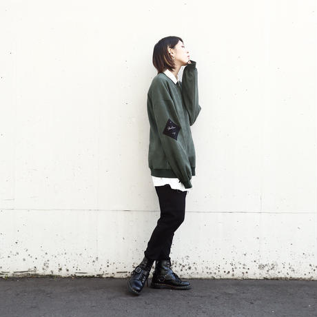 【AFYF】SWEADE PATCH CREW[DARK GREEN]