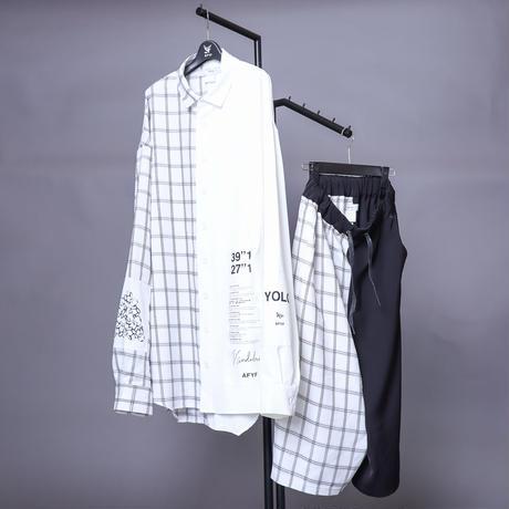 【AFYF】 ICON BILNGUAL COMBINATION ITEM[TYPE-D WHITE×BLK CHECK/WHITE]