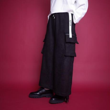 【AFYF】BASIC FOR OVSIZE WIDE CRAGO PANT [SWEADE BLACK]