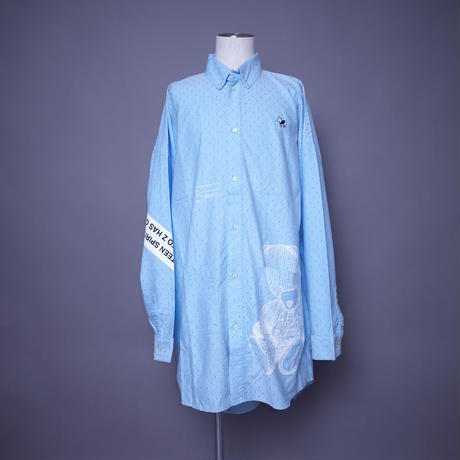 ダークベアーバザール 限定生産アイテム【AFYF】 SPECIAL COTTON  BIG SHIRT 【DARK BEAR&ANIMAL-MINT DOT】 / 3S20090401