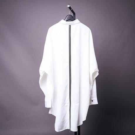 【AFYF】BACK ZIP STRIPE SHIRT[WHITE]