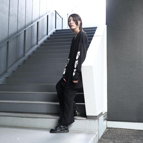 【AFYF】  MESH TRPRINT LS TEE[BK-BL/ROSE]