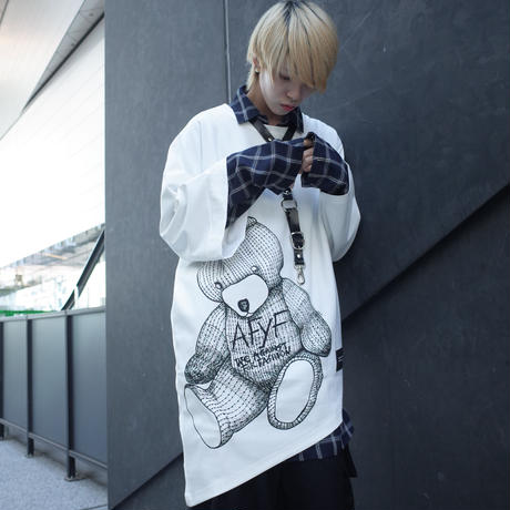 【AFYF】TRIANGLE GRAPHIC [BEAR WHITE]