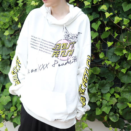 【AFYF】10 OZ SWEAT BIG PARKA [SAD FETISH-WHITE]/7K17050702