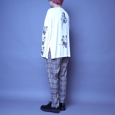 【AFYF】BASIC OVERSIZED GRAPHIC LST [ROSE-WHITE]
