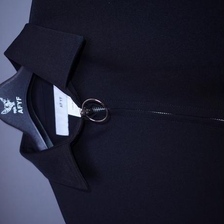 【AFYF】BASIC OVERSIZED LONG ZIP SHIRT  [#22 BLACK]