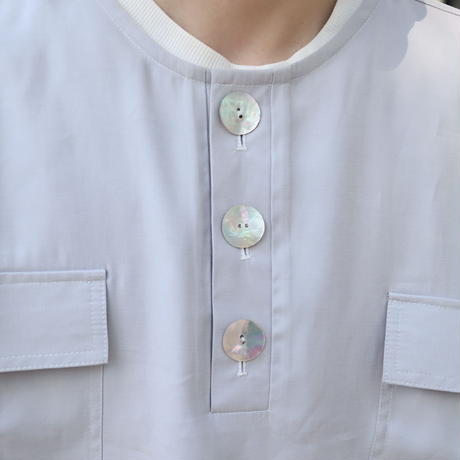【CLASSIC ROV】 COOL TECH (冷感接触素材) NO COL SHIRT [LIGHT GREY]