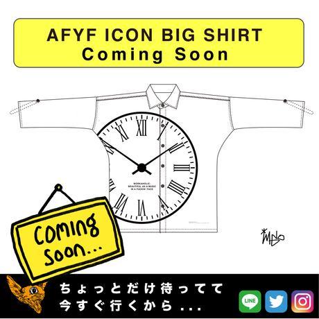 【AFYF】  ICON BIG SHIRT[CLOCK-WHT]