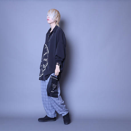 【AFYF】  ICON BIG SHIRT[CLOCK-BLK]