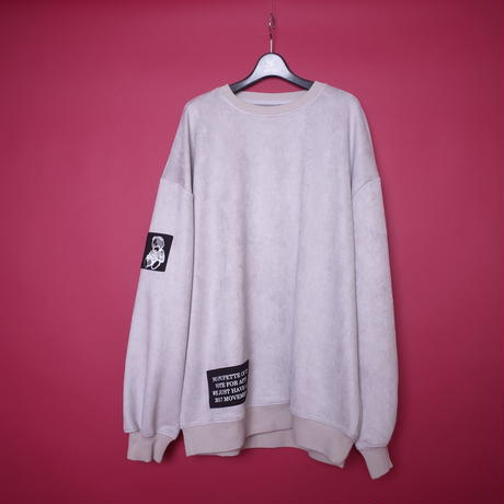 【AFYF】SWEADE PATCH CREW[LIGHT GREY]/8C20092000