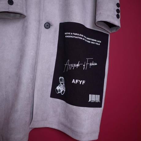 【AFYF】SWEADE PATCH COAT[LIGHT GREY]/8C20092002