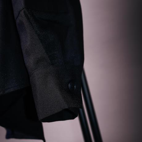 【AFYF】BILINGUAL LONG SHIRT [NAVY×BLK]