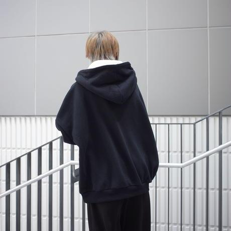 【AFYF】SOFT JERZY HOOD [HAIR-BLACK]