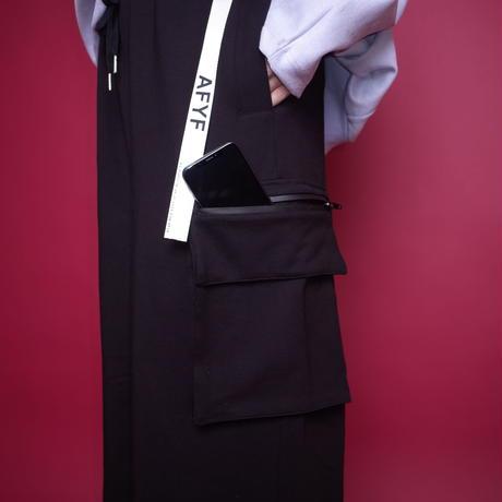 【AFYF】BASIC FOR OVSIZE WIDE CRAGO PANT [PONTI BLACK]