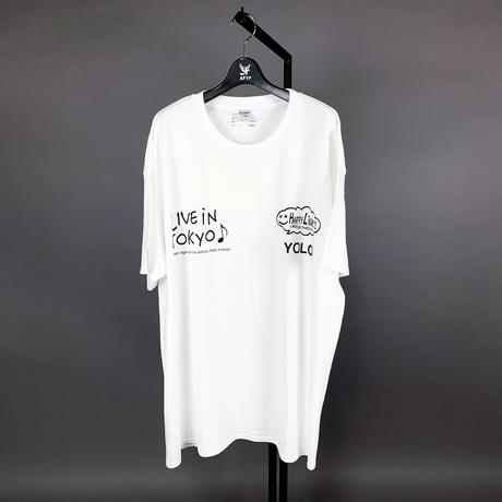 【AFYF ON GILDAN社】 SOUVENIR T SHIRT2 MONSTER HAPPY L [WHITE]