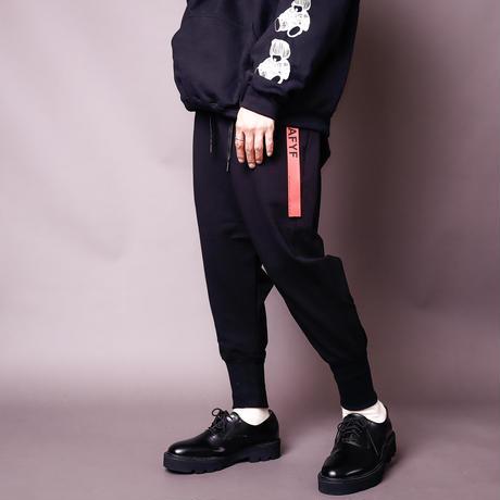 【AFYF】ASICS OVERSIZESAROUEL RIB PANT [起毛 BLACK]