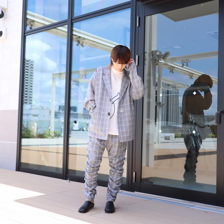 【CLASSIC ROV】TROPICAL (清涼スーツ素材) TAILORED JKT [杢GREY CHECK]