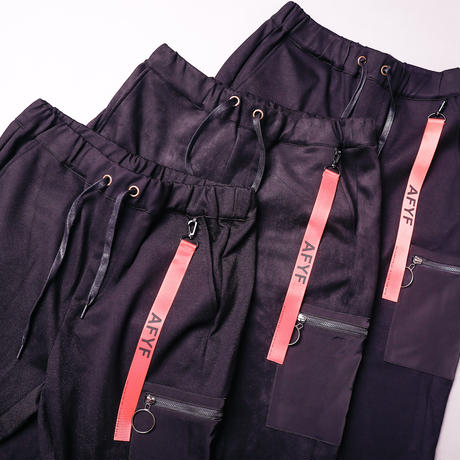 【AFYF】BASIC FOR OVSIZE SKINNY RIB PANT[SWEADE BLACK]
